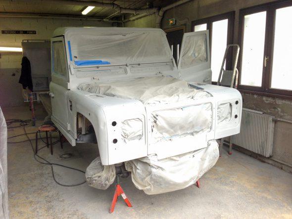 Defender Mark II : Peinture, mécanique et cabine